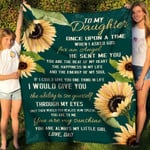 To My Daughter From Dad Once Upon A Time YC1009143CL Fleece Blanket