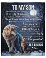 To My Son From Mom Wolf Moon YC1009324CL Fleece Blanket