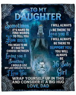 To My Daughter From Dad Lion Mandala YC1009139CL Fleece Blanket