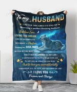 Wolf To My Husband Living The Dream YC1009365CL Fleece Blanket