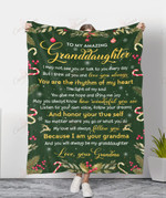 To My Amazing Granddaughter My Love Will Always Follow You YC1009111CL Fleece Blanket