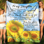 To My Daughter From Mom You Are So Special YC1009174CL Fleece Blanket