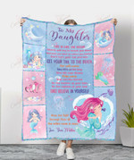 Wisdom From A Mermaid To My Daughter YC1009349CL Fleece Blanket