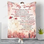To My Daughter Let Your Smile Change The World YC1009184CL Fleece Blanket
