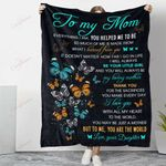 Butterfly To My Mom With All My Heart YC1009022CL Fleece Blanket