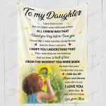 To My Daughter I Loved You Long Before I Saw You YC1009180CL Fleece Blanket