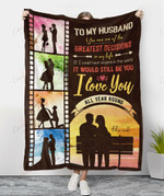 To My Husband I Love You All Year Round YC1009263CL Fleece Blanket