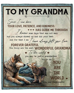To My Grandma From Granddaughter Wolf Forest YC1009234CL Fleece Blanket