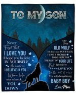 To My Son From Mom Wolf YC1009325CL Fleece Blanket