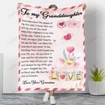 To My Granddaughter My Beautiful Chapter YC1009230CL Fleece Blanket