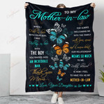 Butterfly To My Mother In Law Thank You YC1009026CL Fleece Blanket