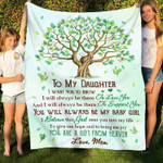 To My Daughter The Best By Far Is You YC1009190CL Fleece Blanket