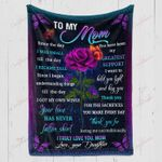 To My Mom From Daughter My Greatest Support YC1009279CL Fleece Blanket