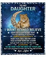 To My Daughter From Mom Lion Moon YC1009164CL Fleece Blanket