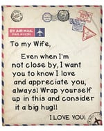 To My Wife From Husband Letter YC1009335CL Fleece Blanket