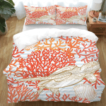 Red Coral Sea Turtle XM1009499CL Bedding Set