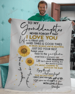 To My Granddaughter You Are My Sunshine YC1309259CL Fleece Blanket