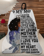 To My Mom I Love You With All My Heart YC1309260CL Fleece Blanket