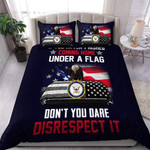 Us Navy Veteran Coming Home Under A Flag Proud Military XP1109100CL Bedding Set