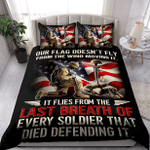 Us Veteran Flag Old Soldier Proud Military XP1109099CL Bedding Set