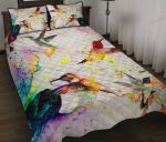 Hummingbird And Flowers XP1109403CL Quilt Bed Set