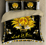 Beautiful Hippie Bee And Sunflower XP1309656CL Bedding Set