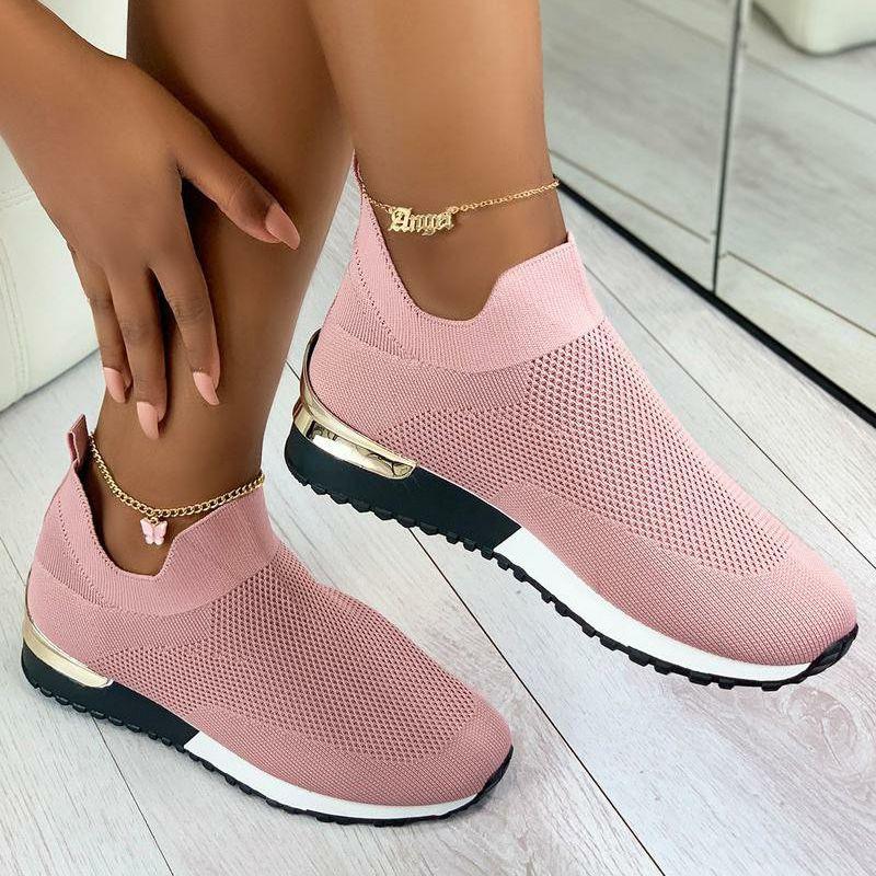 Elegant Elastic Slip-on Flat Shoes