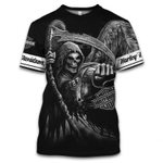 [Limited Edition] HD Motorbike Skull 3D Tank Top T-shirt Hoodie Zip Hoodie Jacket Long Sleeved  - 2020 HD058L