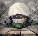 [LIMITED EDITION] HALLOWEEN SKULL FABRIC FACE COVER HW00108L