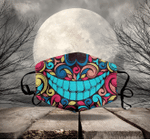 [LIMITED EDITION] HALLOWEEN SKULL FABRIC FACE COVER HW00106L
