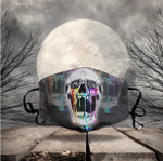 [LIMITED EDITION] HALLOWEEN SKULL FABRIC FACE COVER HW0091L