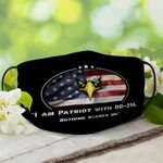 """[Limited Edition] """"Patriot with DD-214"""" American Eagle Facemask - 2020 Custom Design - FMAFC0052"""