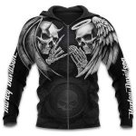 [Limited Edition] HD Motorbike Skull 3D Tank Top T-shirt Hoodie Zip Hoodie Long Sleeved  - 2020 HD048L