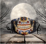 [LIMITED EDITION] HALLOWEEN SKULL FABRIC FACE COVER HW00118L