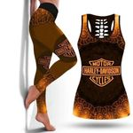 [Limited Edition] HD 3D ALL OVER PRINTED COMBO TANK TOP & LEGGINGS OUTFIT FOR WOMEN - HD131L