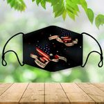 [Limited Edition] Patriotic Eagle and Banners on Dark Blue Face Mask C041 Custom Design 2020