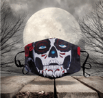 [LIMITED EDITION] HALLOWEEN SKULL FABRIC FACE COVER HW00120L