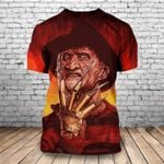 Freddy Krueger A Nightmare on Elm Street 3D Graphic T-Shirt, Horror Movie 2020 Custom Design - HW0183C