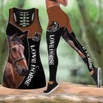Brown Nature Horse Hoodie and Legging Set