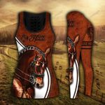 Horse Lover Brown 3 Legging and Tanktop Set