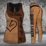 Horse Lover Heart Brown Legging and Hoodie Set