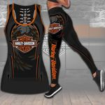 HD 3D ALL OVER PRINTED COMBO TANK TOP & LEGGINGS OUTFIT FOR WOMEN - HD392