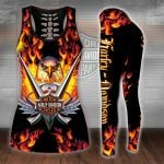 HD 3D ALL OVER PRINTED COMBO TANK TOP & LEGGINGS OUTFIT FOR WOMEN - HD398