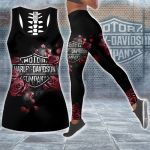 HD 3D ALL OVER PRINTED COMBO TANK TOP & LEGGINGS OUTFIT FOR WOMEN - HD406