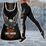 HD 3D ALL OVER PRINTED COMBO TANK TOP & LEGGINGS OUTFIT FOR WOMEN - HD408