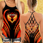 [Limited Edition] Firely Criss Cross Open Back Camisole Tanktop AOP033101QNT49