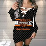 HD 3D New Criss Cross Sweet Dress AOP17122THO