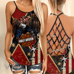 [Limited Edition] Criss Cross Open Back Camisole Tanktop AOP2104053THO