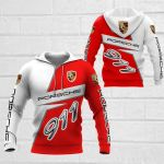 3D All Over Printed Porsche 911  Shirts Ver 1 (Red & White)