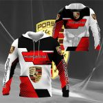 3D All Over Printed Porsche  Shirts Ver 6 (Red)